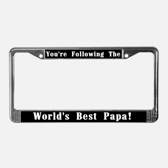 World's Best Papa License Plate Frame