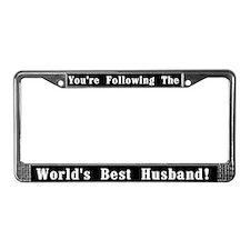 World's Best Husband License Plate Frame