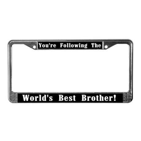 World's Best Brother License Plate Frame