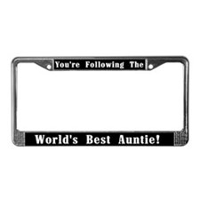 World's Best Auntie License Plate Frame