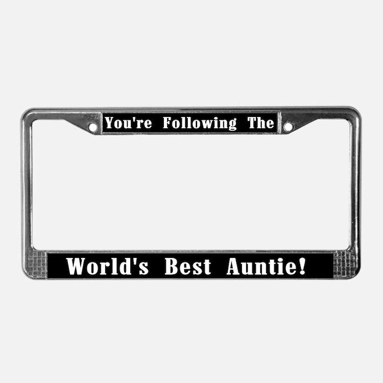 World's Best Auntie License Plate Frame