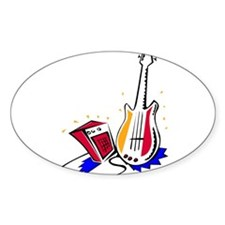 GUITAR (15) Oval Decal