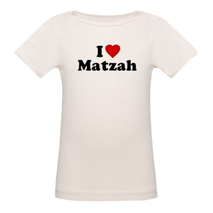 I Love [Heart] Matzah Organic Baby T-Shirt