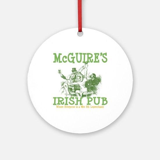 McGuire's Irish Pub Personalized Ornament (Round)