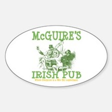 McGuire's Irish Pub Personalized Oval Decal