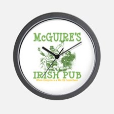 McGuire's Irish Pub Personalized Wall Clock