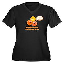 MRSA Women's Plus Size V-Neck Dark T-Shirt