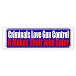Criminals & Gun Control Bumper Sticker (50 pk)