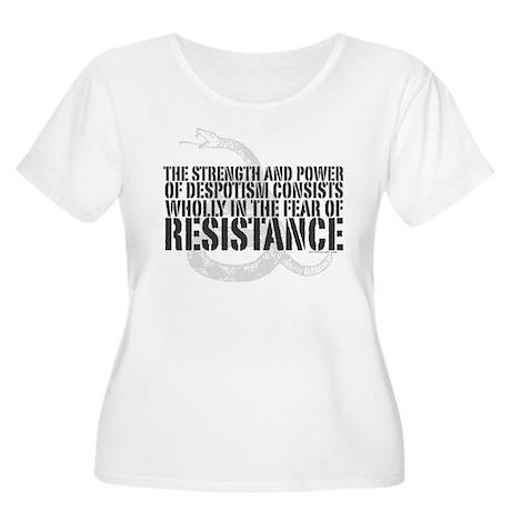 Thomas Paine Resistance Quote Women's Plus Size Sc