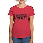 Thomas Paine Resistance Quote Women's Dark T-Shirt