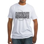 Thomas Paine Resistance Quote Fitted T-Shirt