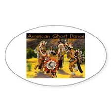 AMERICAN GHOST DANCE Oval Decal