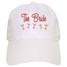 Red M-Martini Bride Baseball Cap