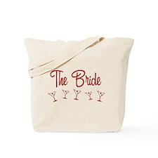 Red M-Martini Bride Tote Bag
