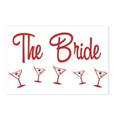 Red M-Martini Bride Postcards (Package of 8)