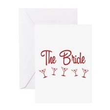 Red M-Martini Bride Greeting Card