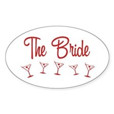 Red M-Martini Bride Oval Decal