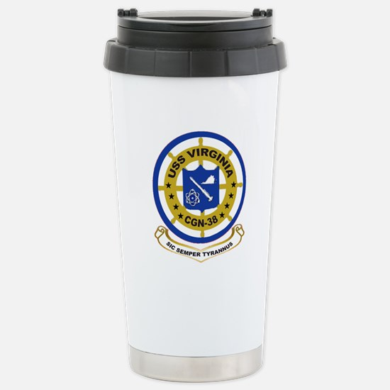 USS Virginia CGN 38 Stainless Steel Travel Mug