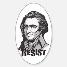 Thomas Paine: Resist Oval Decal