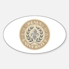 Beals Last Name University Oval Decal