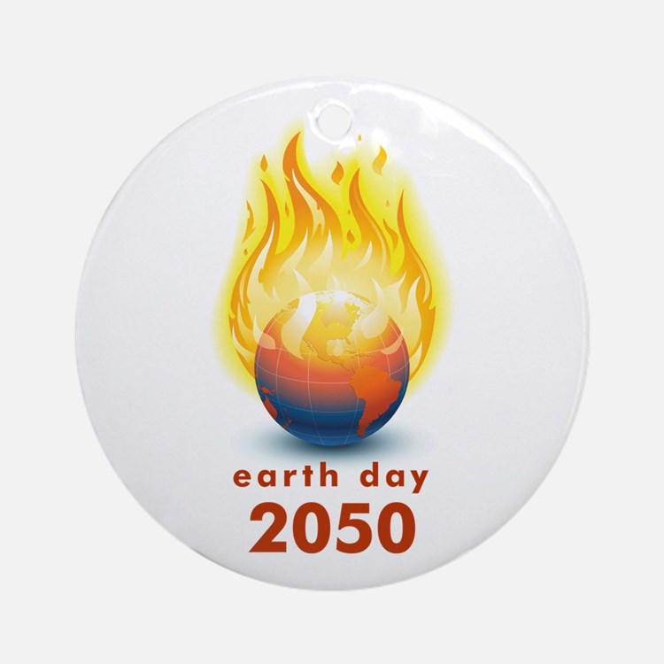 'Earth Day 2050' Ornament (Round)