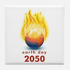 'Earth Day 2050' Tile Coaster
