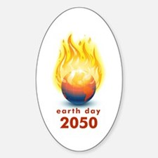 'Earth Day 2050' Oval Decal