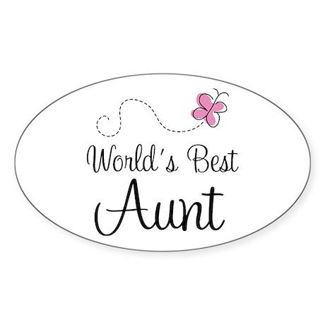 World's Best Aunt Oval Sticker