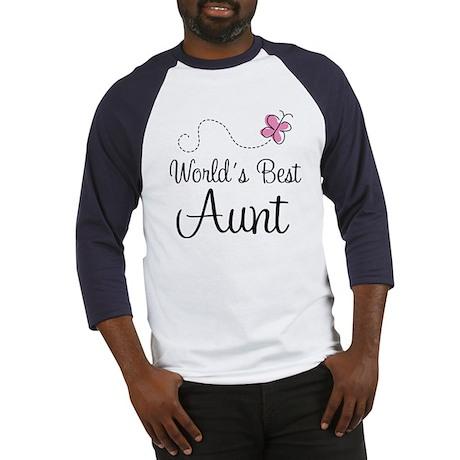 World's Best Aunt Baseball Jersey