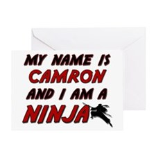 my name is camron and i am a ninja Greeting Card