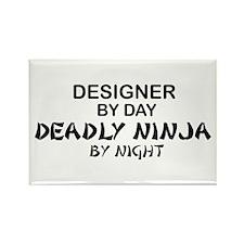 Designer Deadly Ninja by Night Rectangle Magnet