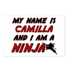 my name is camilla and i am a ninja Postcards (Pac