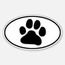 Paw Print Sticker (Oval)
