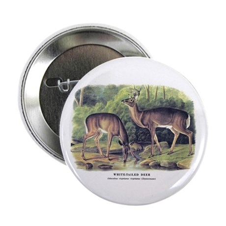 "Audubon White-Tailed Deer 2.25"" Button (10 pack)"