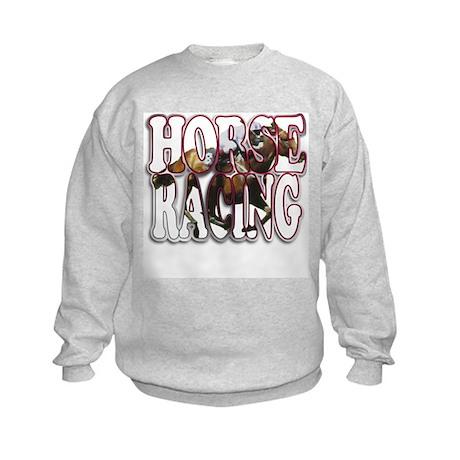 """""""Horse Racing"""" Kids Sweatshirt"""