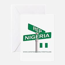 REP NIGERIA Greeting Card