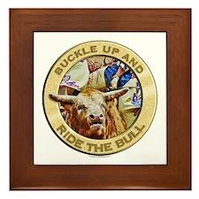 Ride the Bull Framed Tile