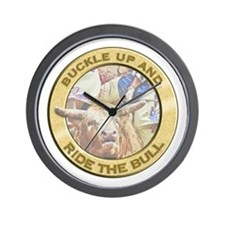 Ride the Bull Wall Clock