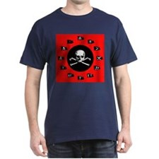 Red Pirate- Jolly Roger T-Shirt