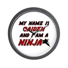 my name is caiden and i am a ninja Wall Clock