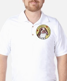 I Love Lops Circle Golf Shirt