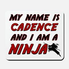 my name is cadence and i am a ninja Mousepad