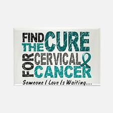 Find The Cure 1 Cervical Cancer Rectangle Magnet