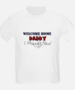 (US Navy) Welcome Home Daddy Kids Tee