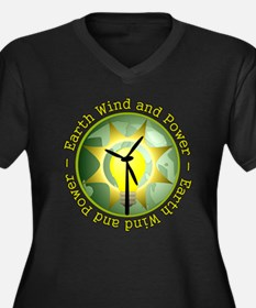 Earth wind and power Women's Plus Size V-Neck Dark