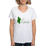 Shamrock Mom Women's V-Neck T-Shirt