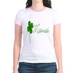 Shamrock Mom Jr. Ringer T-Shirt
