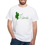 Shamrock Mom White T-Shirt