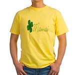 Shamrock Mom Yellow T-Shirt