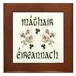 Irish Mother (Floral) Framed Tile